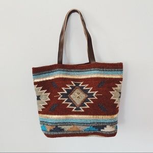 Southwest Scully wool tote bag, boho, hippie